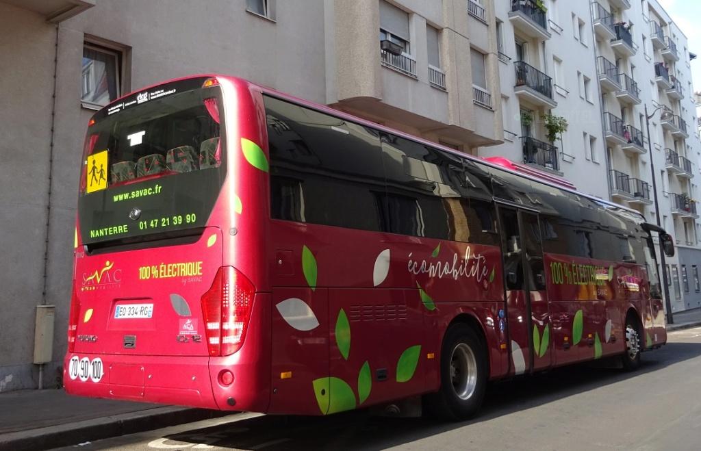 L'autocar tout électrique Yutong10