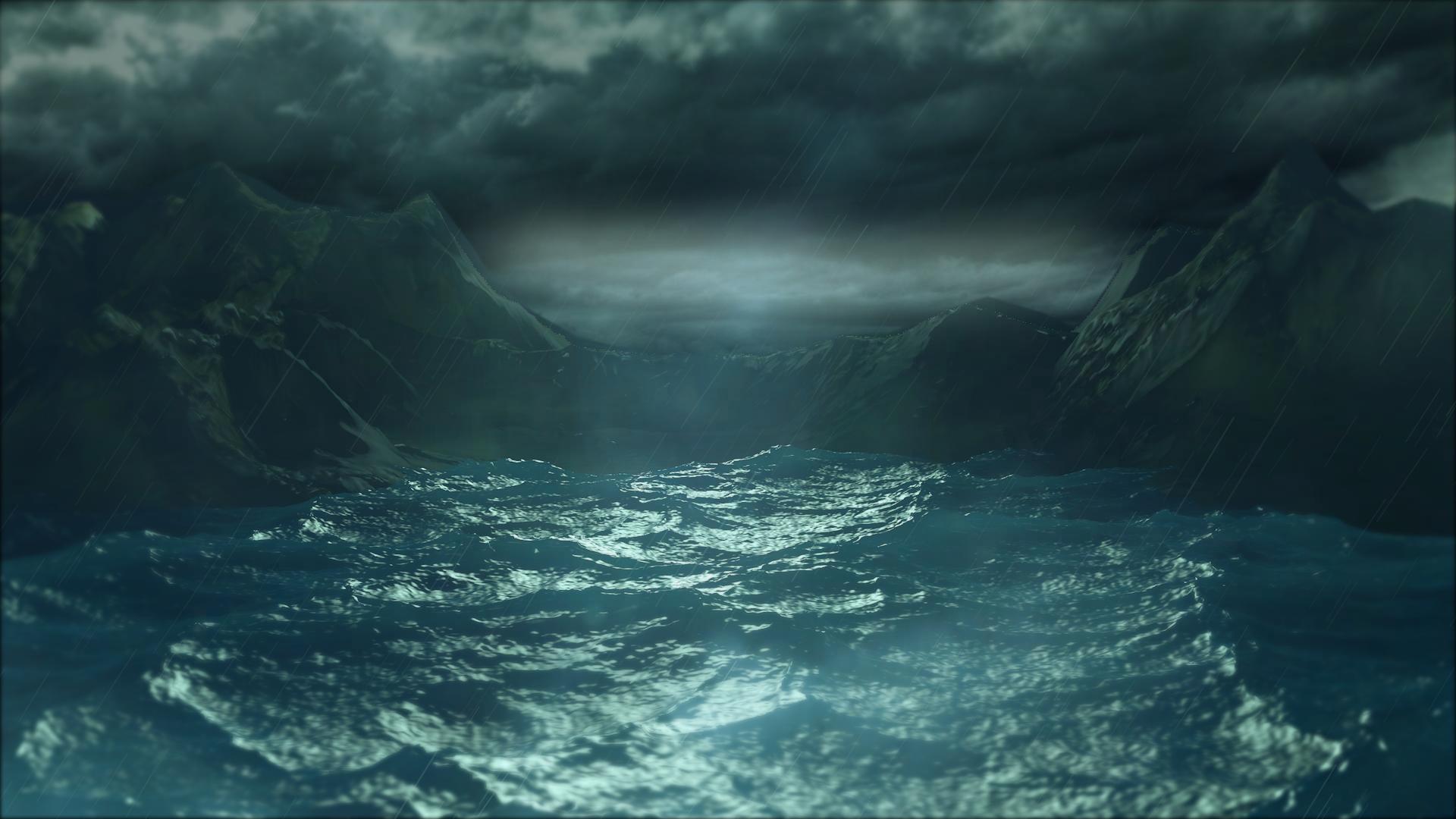Terrain sous la tempête Skybox10
