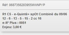 09/06/2018 --- VINCENNES --- R1C5 --- Mise 3 € => Gains 0 €. Screen13