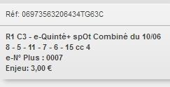 10/06/2018 --- LONGCHAMP --- R1C3 --- Mise 3 € => Gains 0 €. Screen17