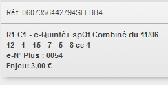 11/06/2018 --- MAISONS-LAFFITTE --- R1C1 --- Mise 3 € => Gains 0 €. Screen21