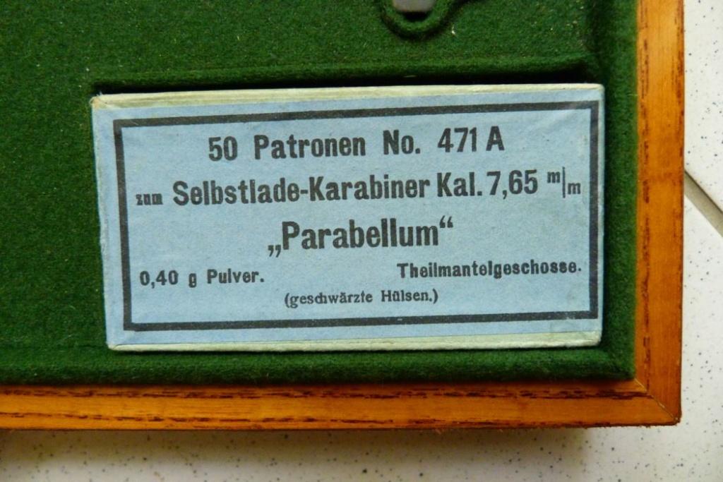 RECHARGEMENT CARTOUCHE POUR CARABINE LUGER MODELE 1902 Boite_20
