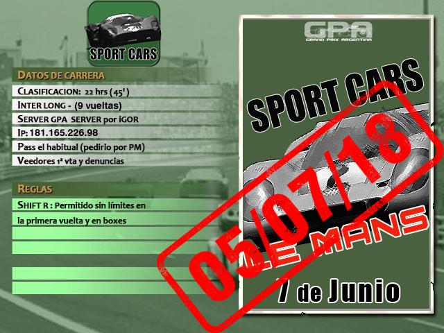 Torneo Spor Cars 1967 - 2018 - Le Mans Lemans10