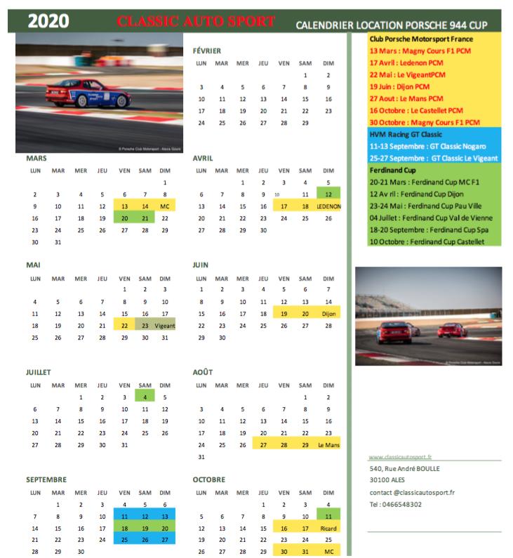 Location 944 Turbo / Trackdays ou meetings de course Calend10