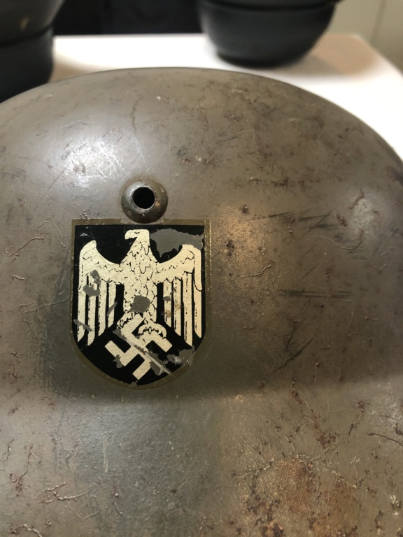 Authentification Casque Allemand Double Insigne Img_3613