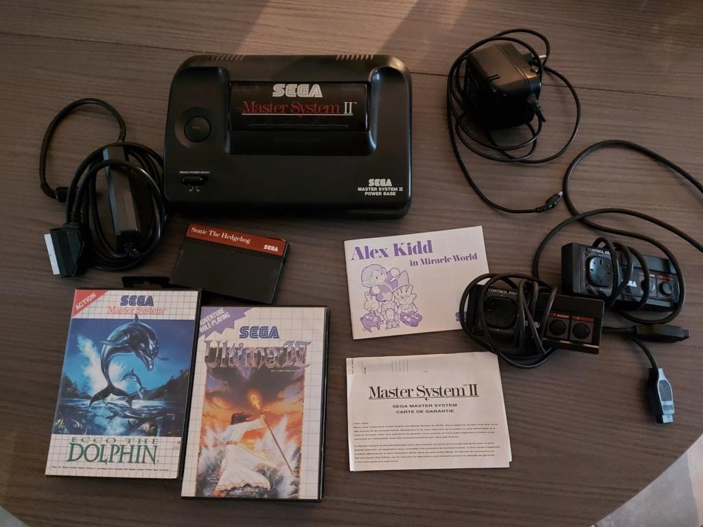[Vds] Sega Master System 2 avec 3 jeux dont Ultima 4 et 2 manettes 20201228