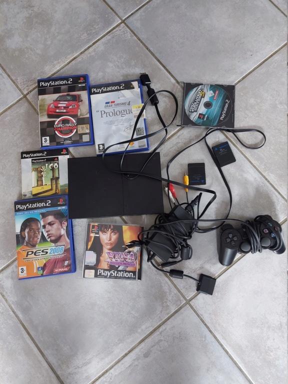 [Vds] Console Ps2 slim en loose + câble alim et video + manette + carte memoire 20210212