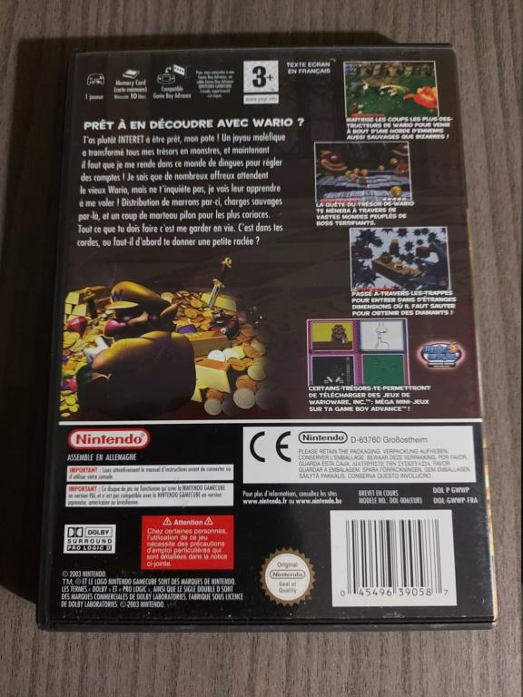 [Vds] Jeu Nintendo Gamecube Wario World PAL FR avec boite, cd, notice 20210311