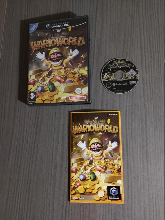 [Vds] Jeu Nintendo Gamecube Wario World PAL FR avec boite, cd, notice 20210312