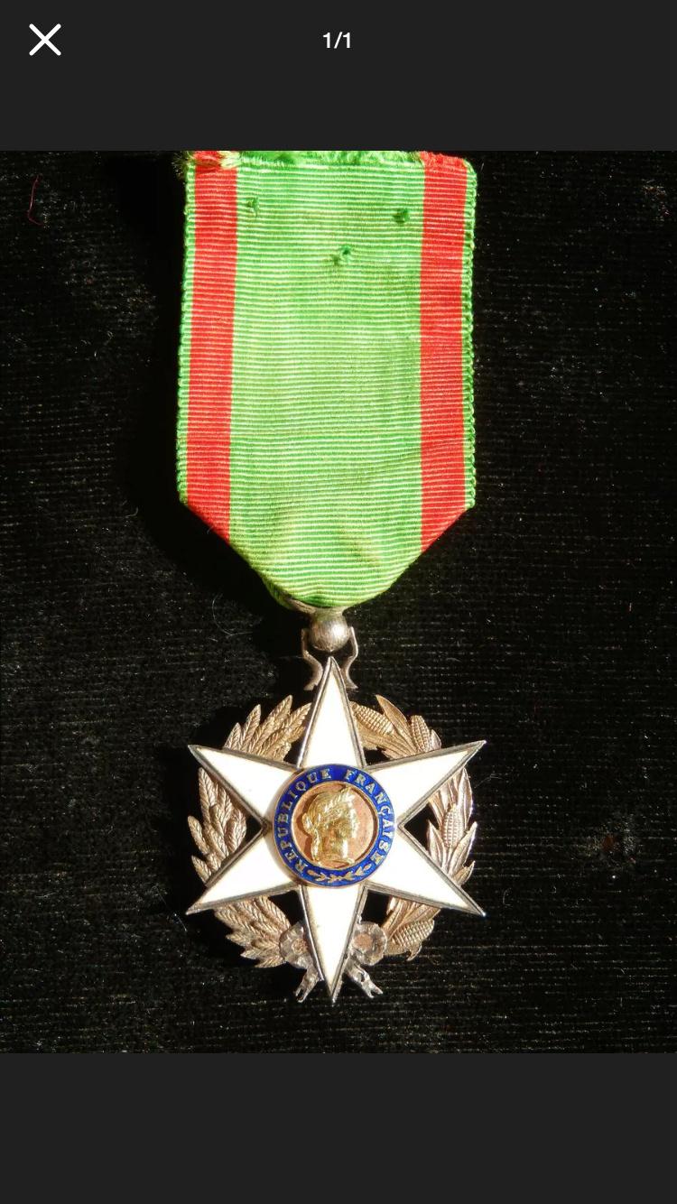 Différencier médaille mérite agricole  243fa210