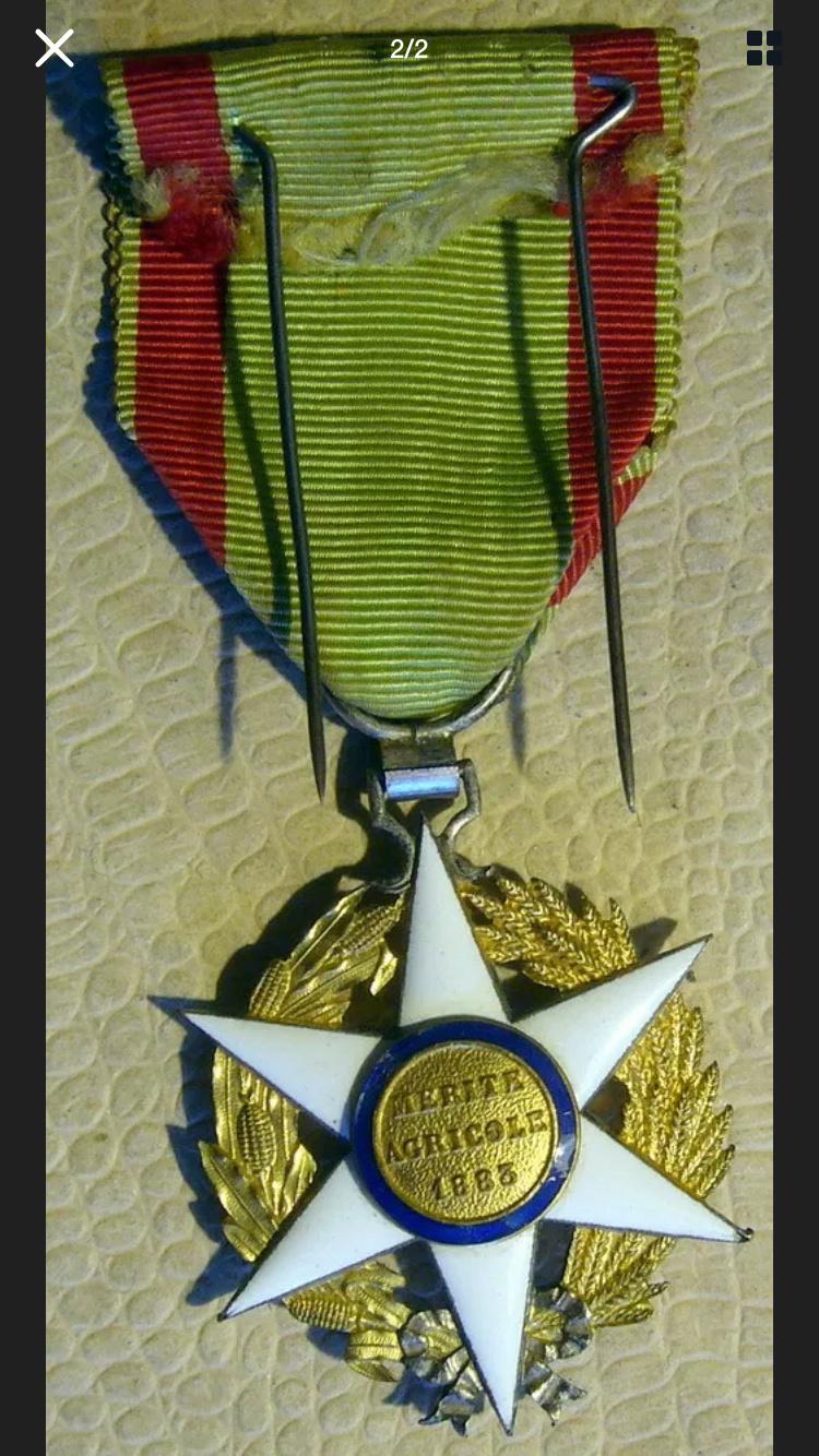 Différencier médaille mérite agricole  90737b10