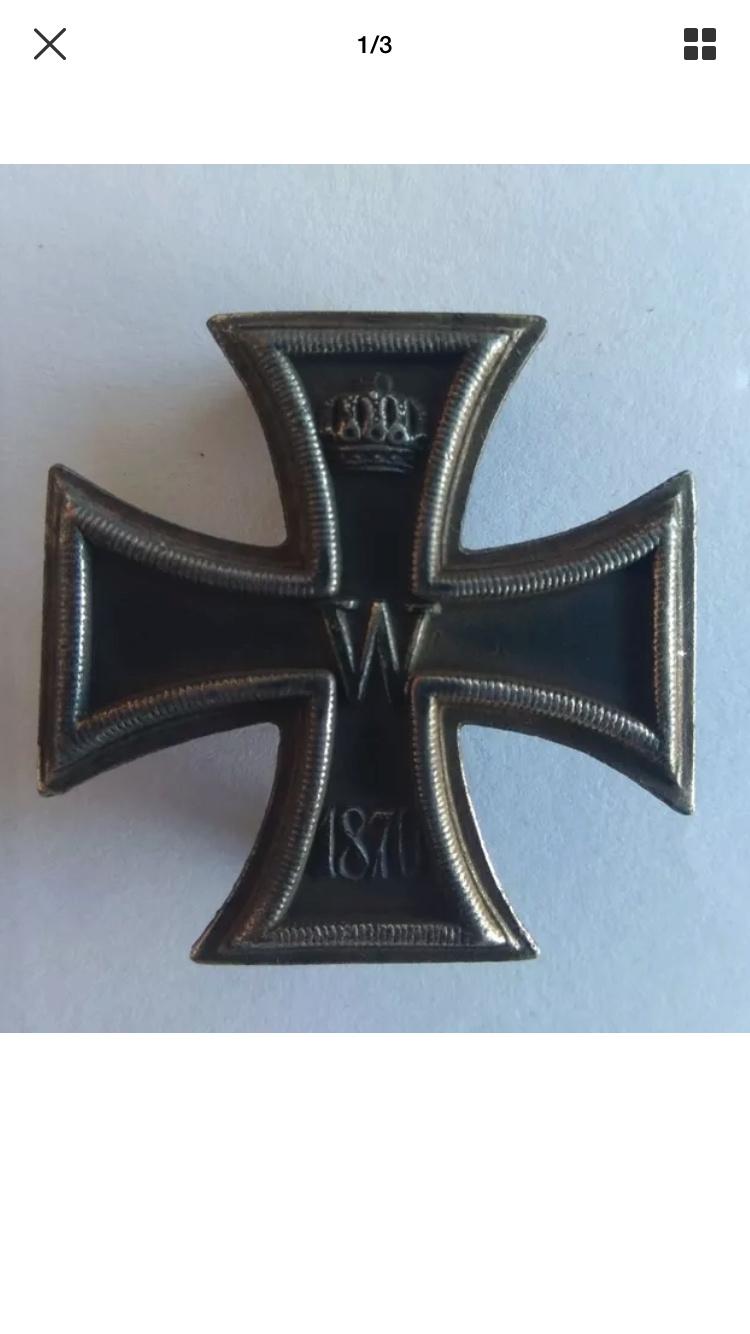 Croix de fer 1870 1ere classe 934f2310