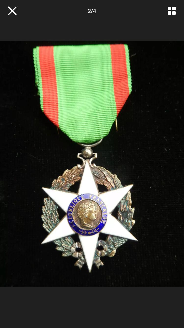 Différencier médaille mérite agricole  Aeb06d10