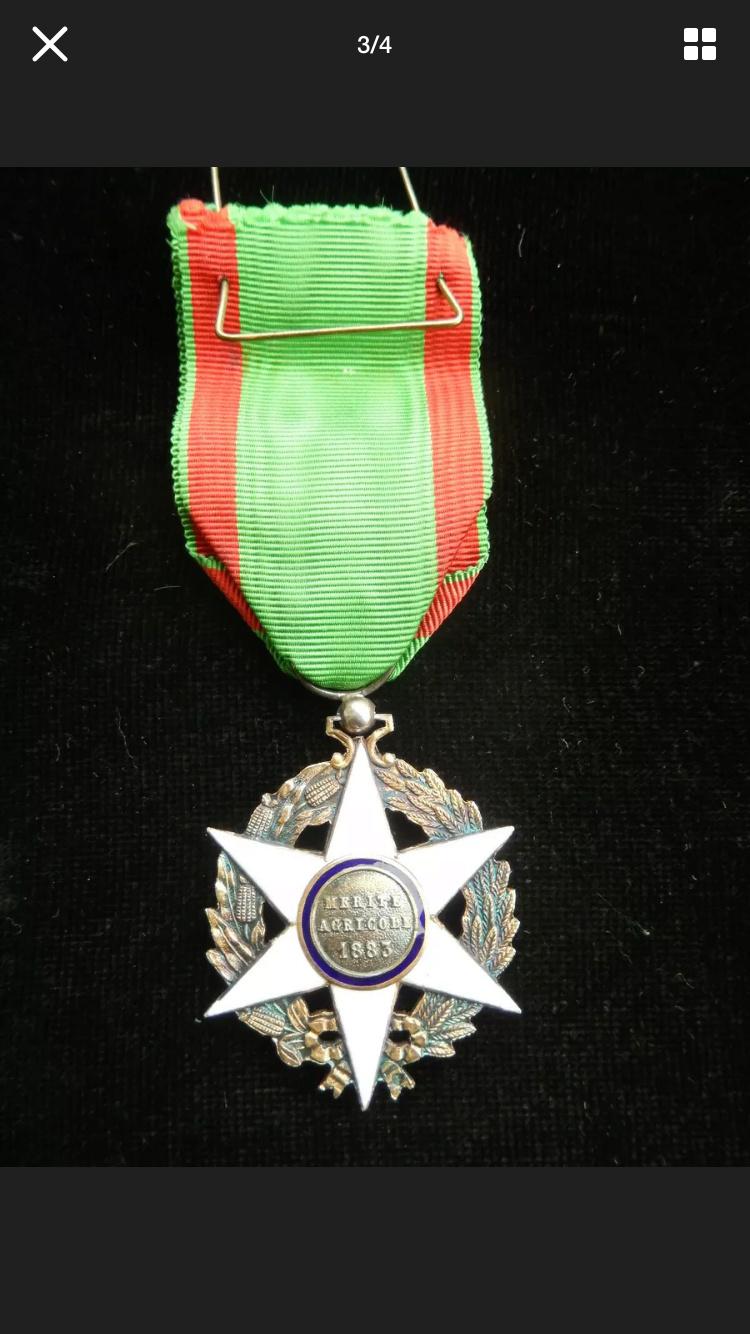 Différencier médaille mérite agricole  Dc23a810