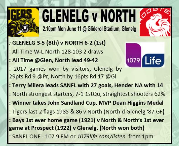 Round 10: Glenelg v North - Monday 11 June @ Gliderol Stadium Rd_10_10
