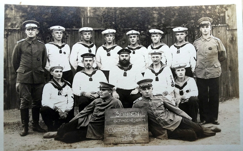 Prisonniers allemands au camp d'Osaka au Japon 1915 20200447
