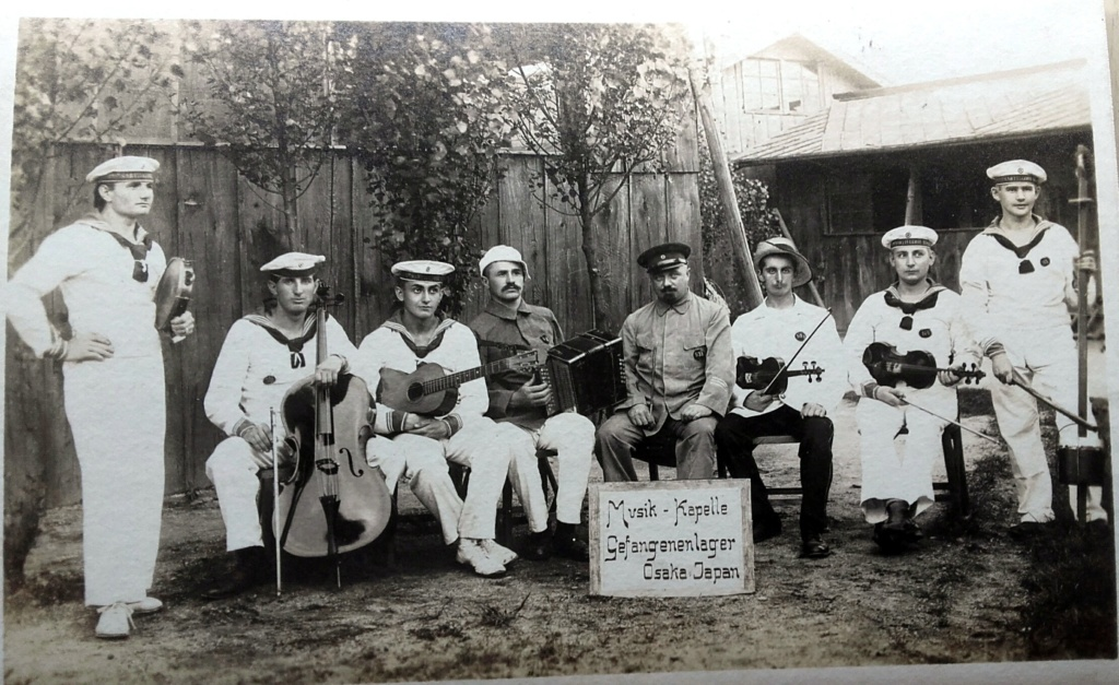 Prisonniers allemands au camp d'Osaka au Japon 1915 20200448