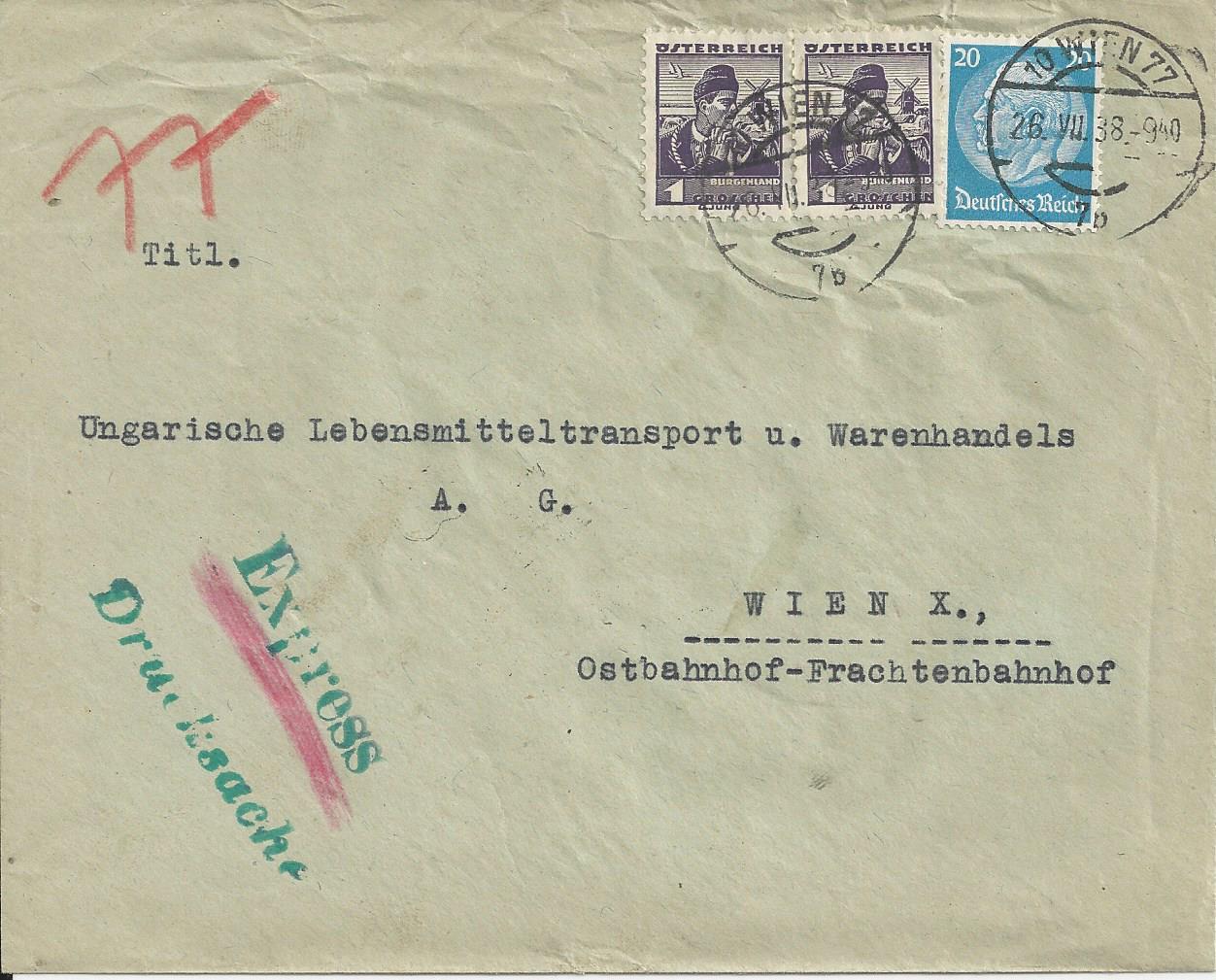 Österreich im III. Reich (Ostmark) Belege - Seite 13 Bild_210