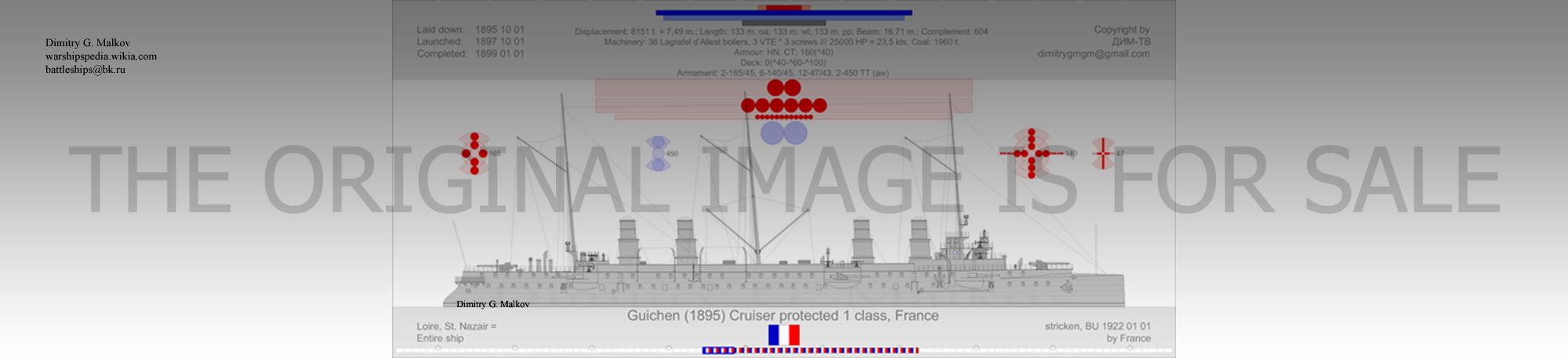 Mes dessins des navires francais Cp-18911