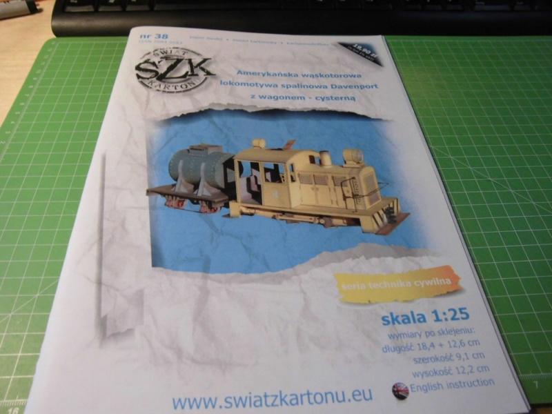 Davenport Diesellok 1:25 Swiat z Kartonu Cimg3869