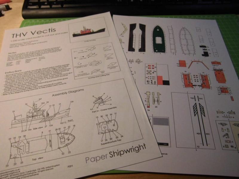 THV Vectis 1:250 Papershipwright Cimg4021