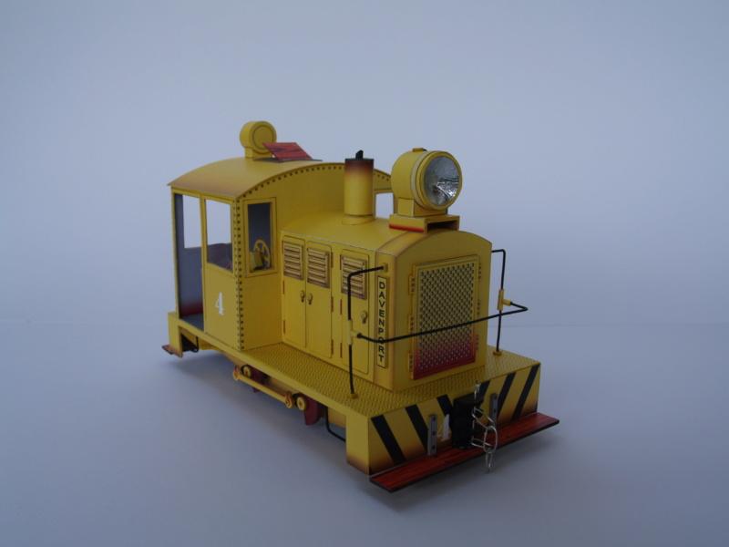 Davenport Diesellok 1:25 Swiat z Kartonu P9011510