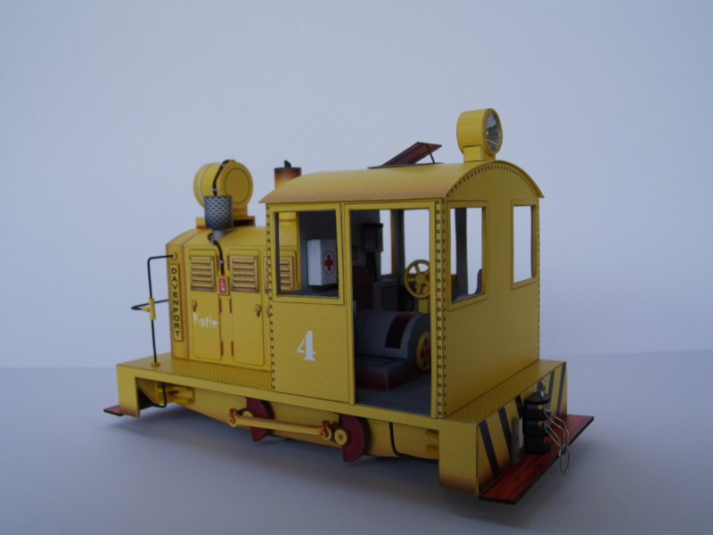 Davenport Diesellok 1:25 Swiat z Kartonu P9011512