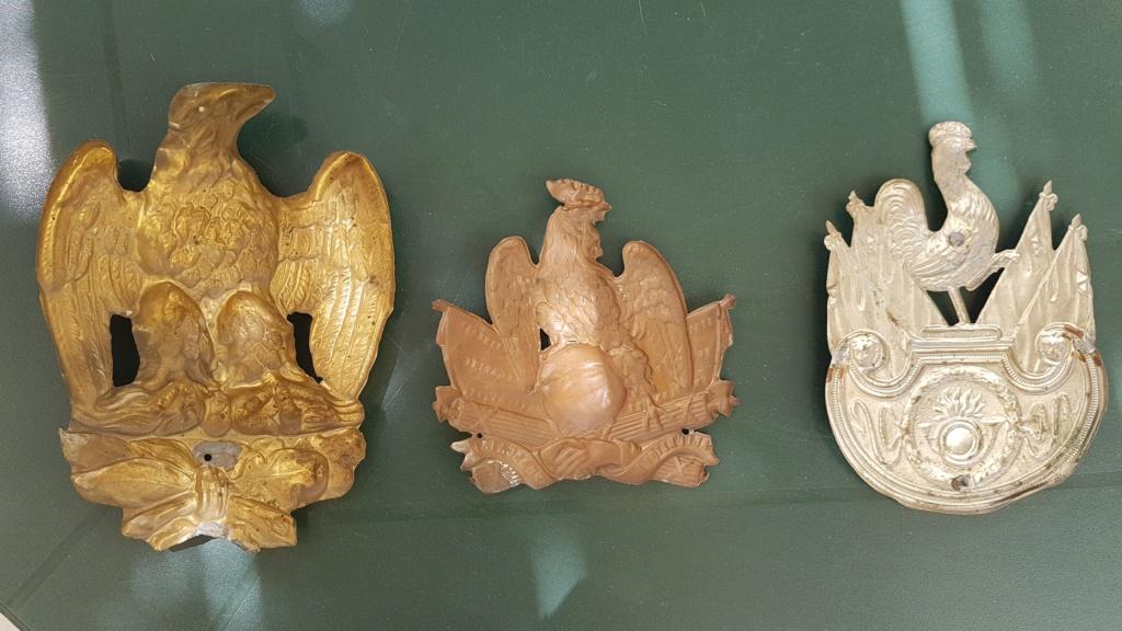 3 plaques de coiffe / shako 20190711