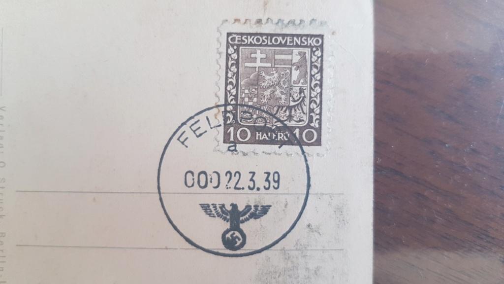 Carte postale AH avec timbre ceskoslovensko 20210112