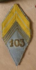 A identifier tissu losange grade militaire Insign10