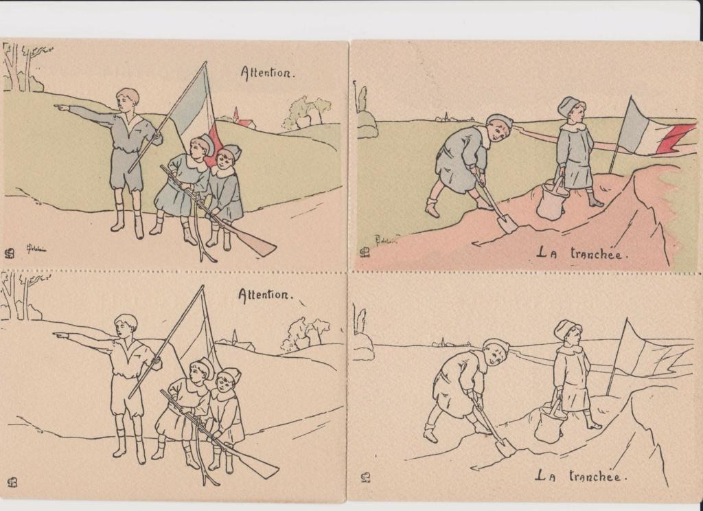 Cartes postales Française à colorier U_001_10