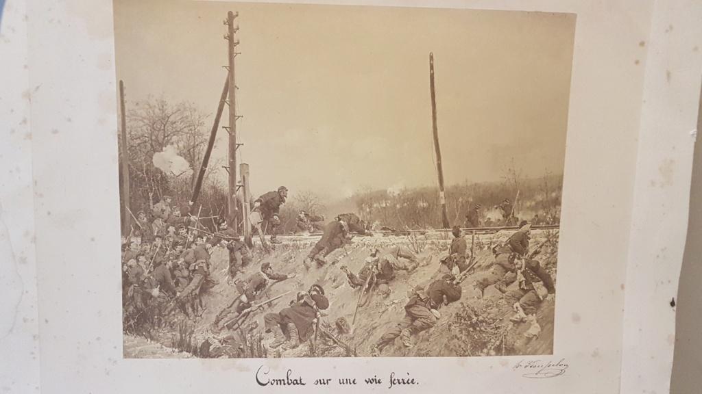 """Photo soldats français """"combat sur la voie ferrée"""" X111"""
