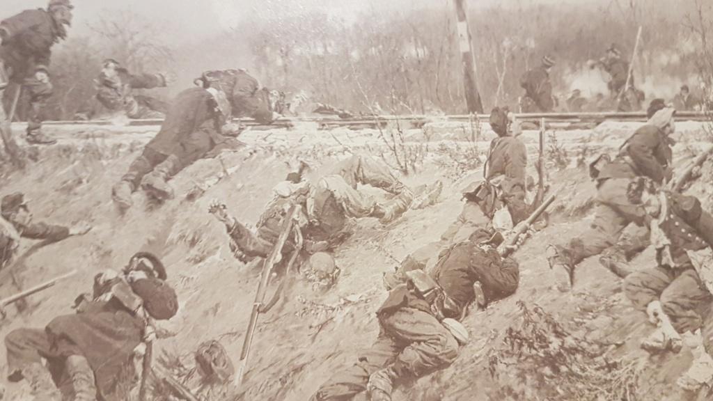 """Photo soldats français """"combat sur la voie ferrée"""" X311"""