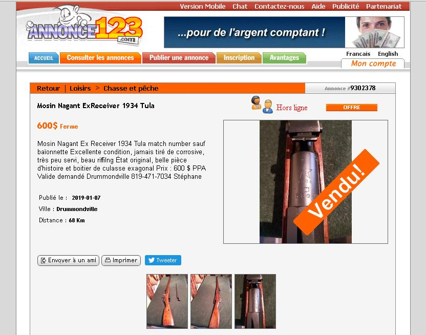Un Mosin Nagant russe vendu 600$ ! ! ! Mosin_10