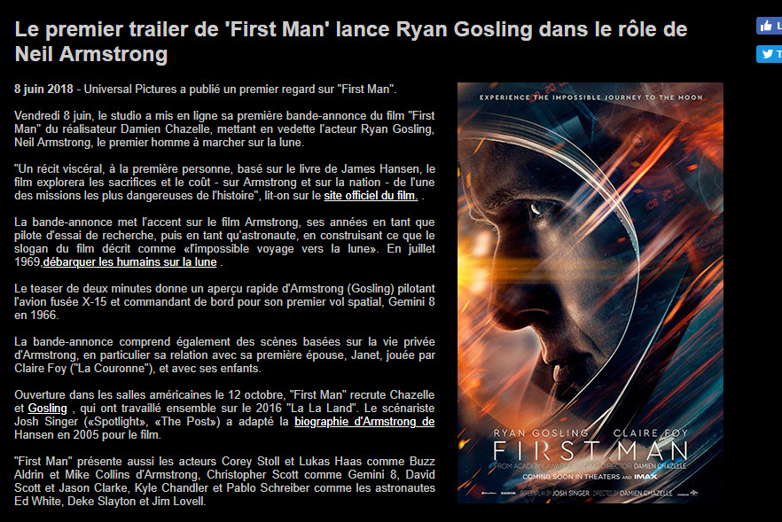 [Film] First man - Biopic sur Neil Armstrong (17/10/18) - Page 2 First_10