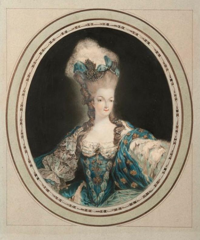 Gravures : Portraits de Marie Antoinette par Jean-François Janinet, d'après Dagoty Marie_10
