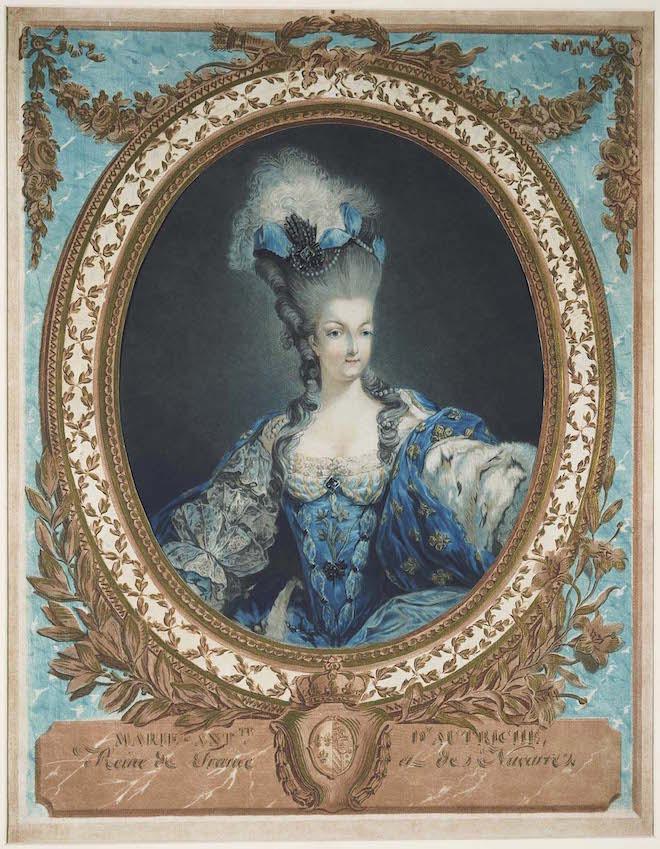 Gravures : Portraits de Marie Antoinette par Jean-François Janinet, d'après Dagoty Sc280510