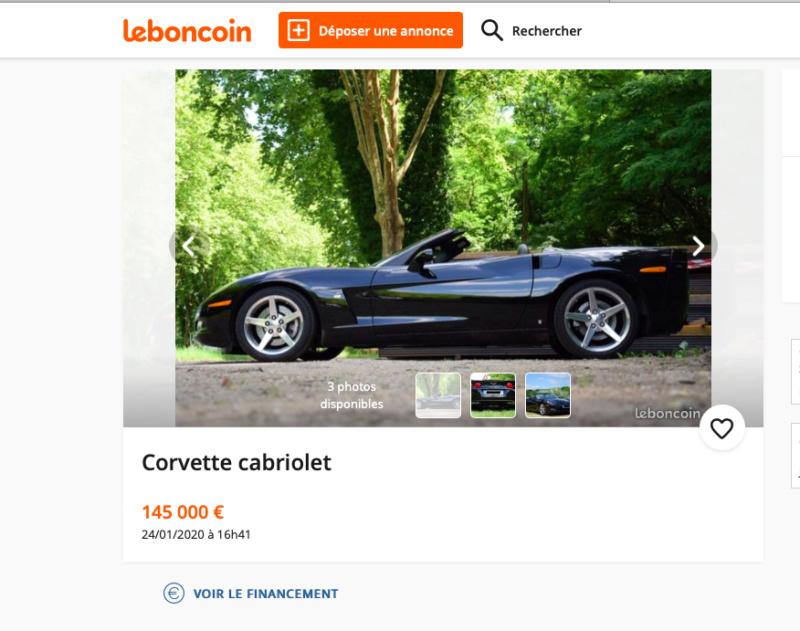 C6 cabriolet en vente à .... 145 000 € !! Captur83
