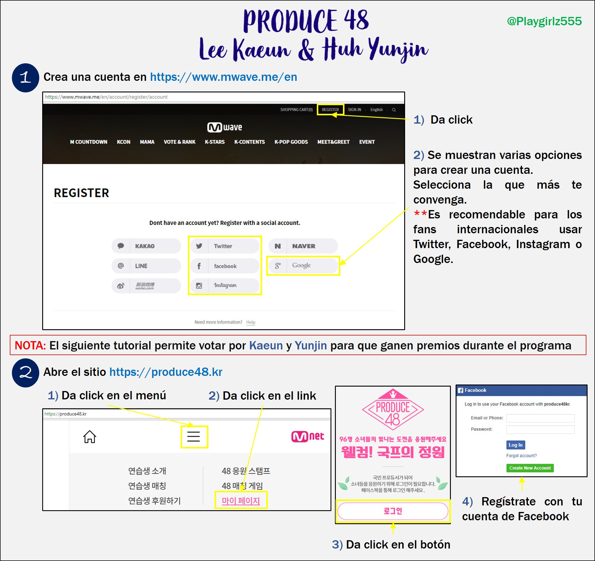 [DISCUSSION] How to Vote for Kaeun and Yoonjin on Produce 48 Nation's Producer Garden French12