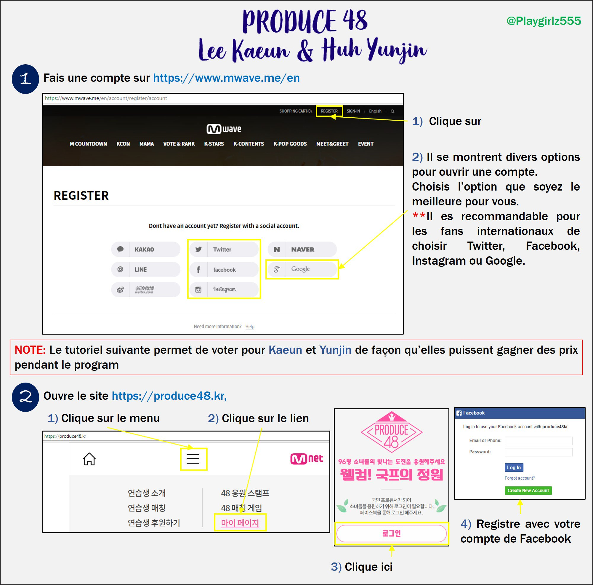 [DISCUSSION] How to Vote for Kaeun and Yoonjin on Produce 48 Nation's Producer Garden French13