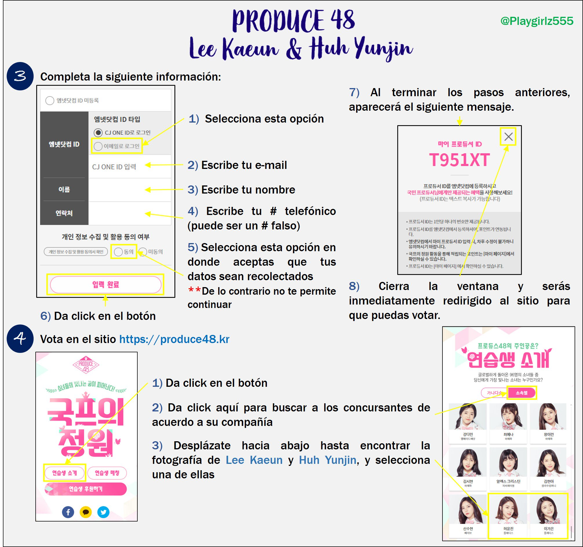 [DISCUSSION] How to Vote for Kaeun and Yoonjin on Produce 48 Nation's Producer Garden French14