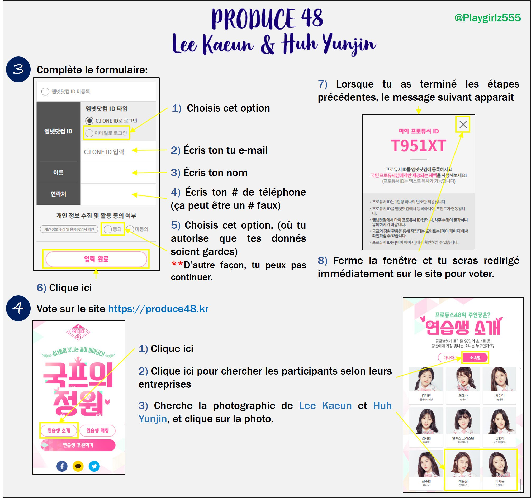 [DISCUSSION] How to Vote for Kaeun and Yoonjin on Produce 48 Nation's Producer Garden French15