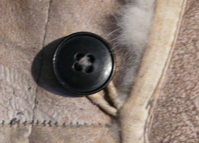 Officier WH en veste peau de lapin Bouton15