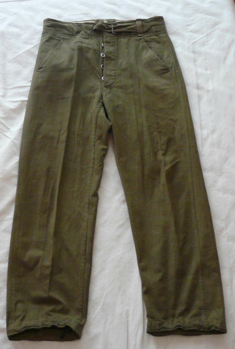 Pantalon droit AK troupe daté 1941 Face56