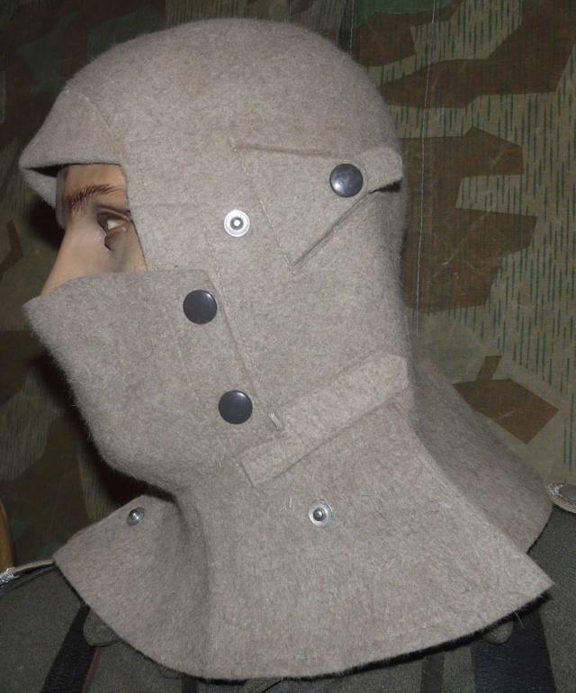 très rare cagoule en feutre allemande 2eme guerre Gauche11