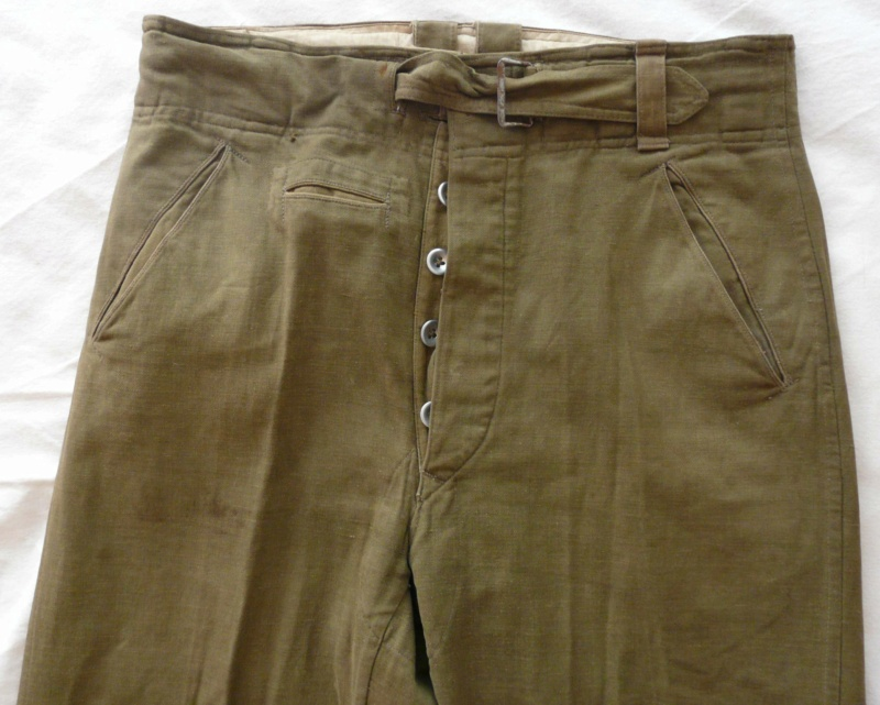 Pantalon droit AK troupe daté 1941 Haut_f10