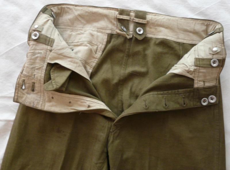 Pantalon droit AK troupe daté 1941 In14