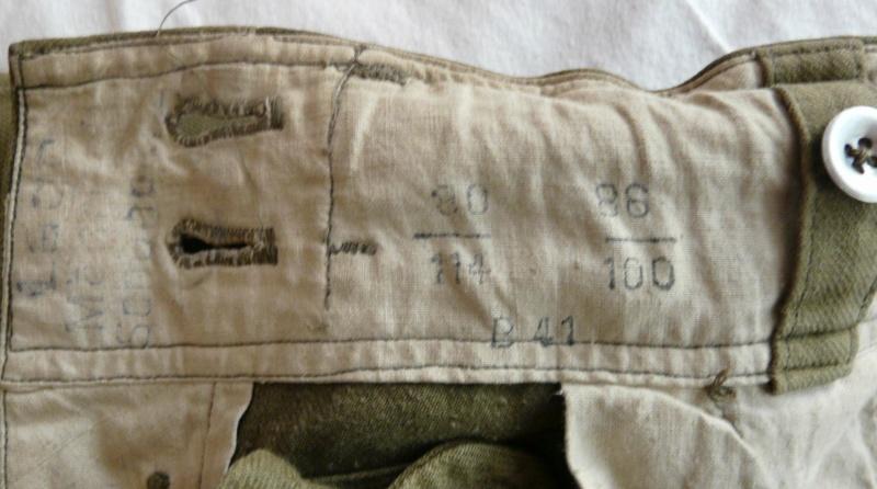 Pantalon droit AK troupe daté 1941 Marqua48