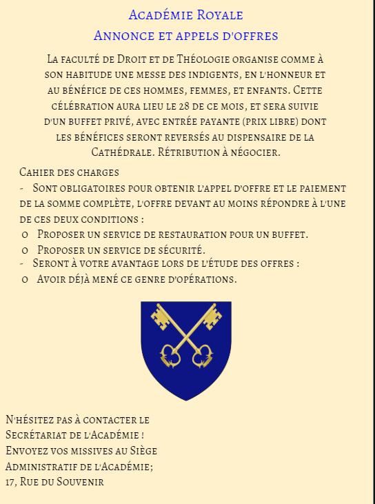 Communication de l'Académie Royale. Messe_11