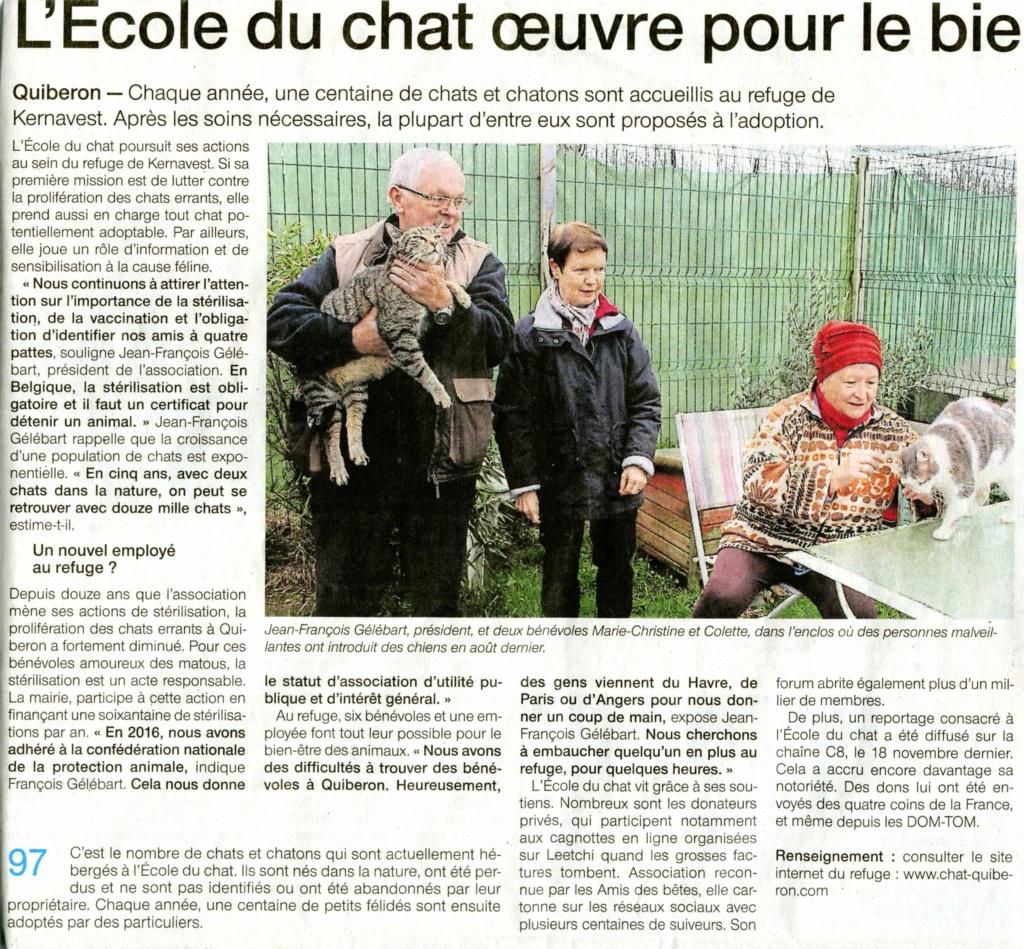 Article Ouest-France  édition Auray 9 Janvier O-f_ja11